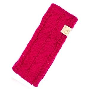 C.C Children Cable Knit Fleece Lined Headband